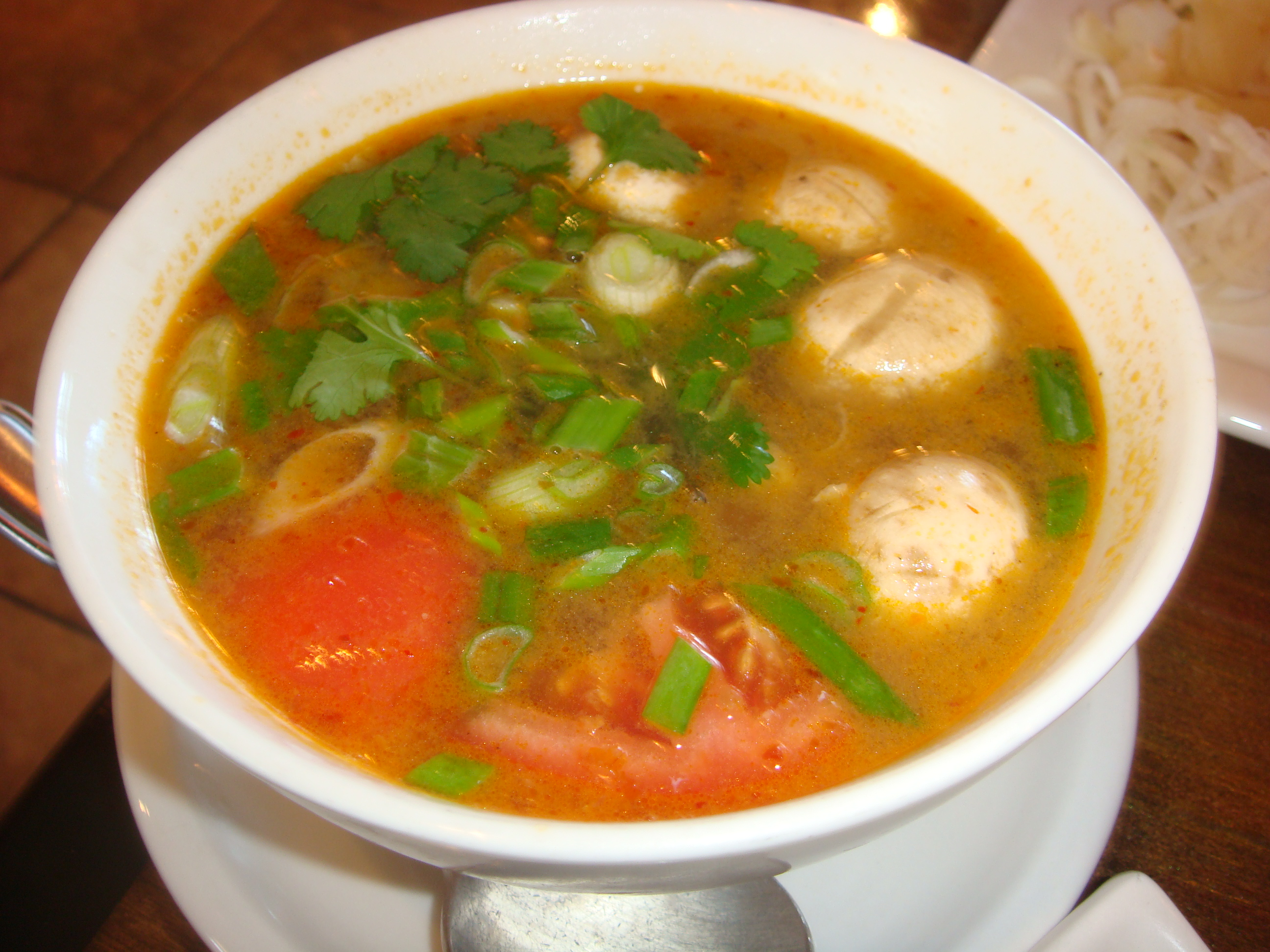 Tom Yum Soup Is An Old Standby This One Is Similar To Others I Ve Eaten The Broth Sour And Spicy This One Was A Little Bit Watery And Not As Great As