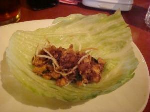 Lettuce Wraps Assembled