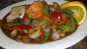 Pad Pik Paow with Shrimp