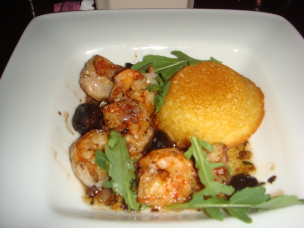 Shrimp with Cornbread