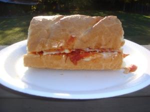Touchdown Pepperoni Pizza Sandwich