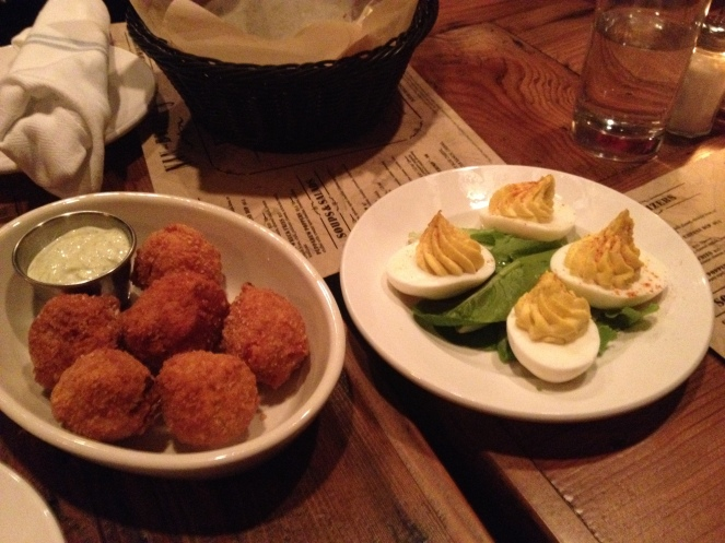 Peppedew Poppers and Deviled Eggs