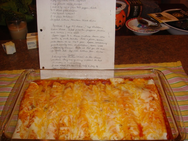 Three Cheese Enchiladas and the recipe :)