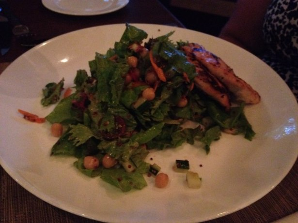 Garden salad with chicken youseff