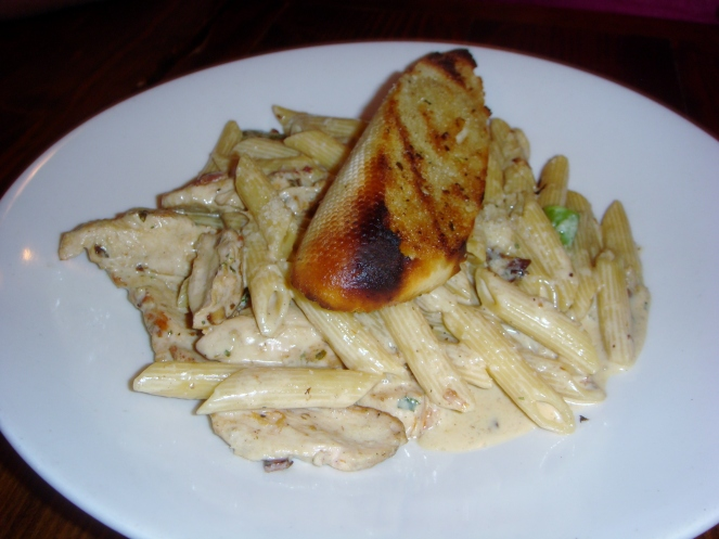 flat iron chicken fettucine